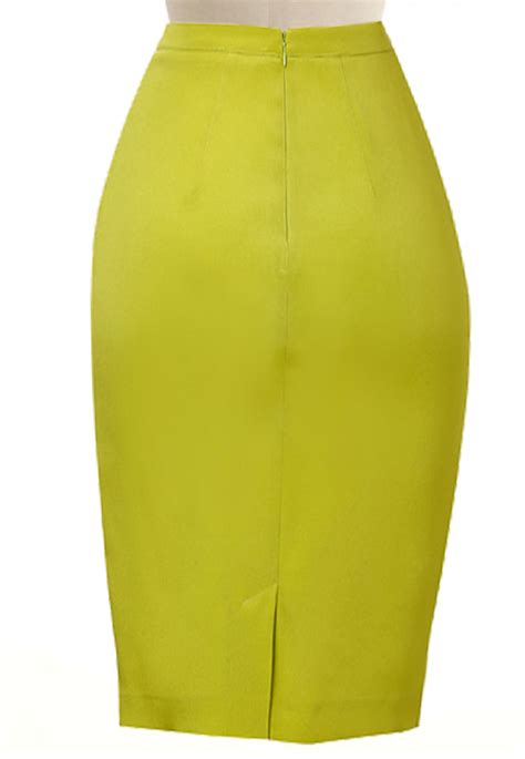lime green pencil skirt dress ala