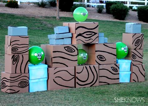 Carnival Backyard Party How To Make A Life Size Angry Birds Game