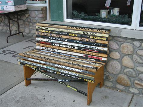 bench hockey ice hockey stick bench seat hockeygods