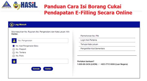 borang cukai pendapatan cara isi e filling online borang cukai pendapatan lhdn