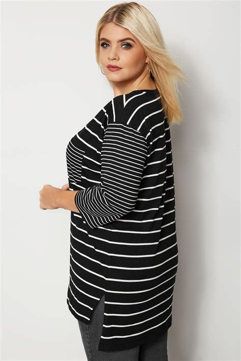 t mobile background check black white mixed stripe t shirt plus size 16 to 36