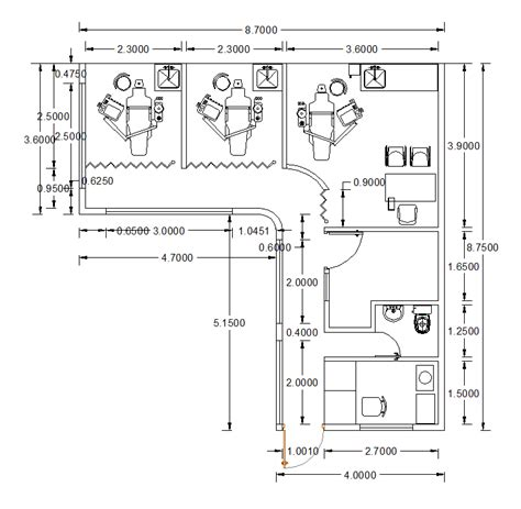dental clinic floor plan cad layouts of dental clinics cadblocksfree cad blocks free