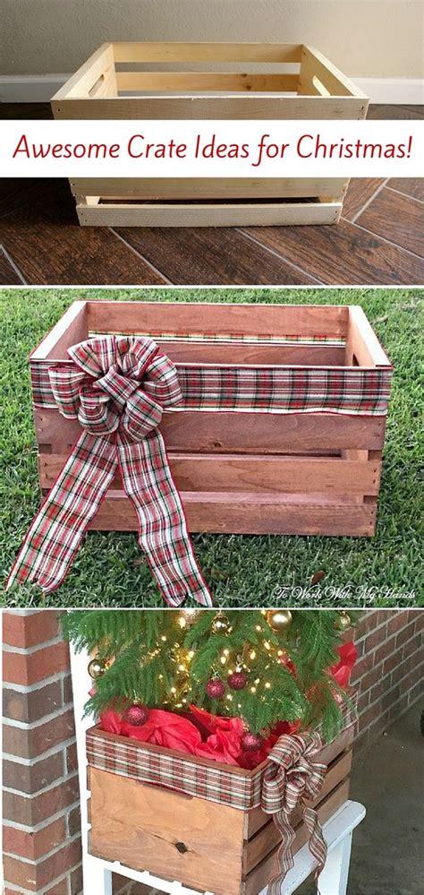 cassette di legno decorate idee natalizie con pallet e cassette di legno ecco 20