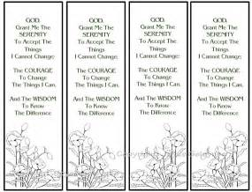 printable bookmarks poppies serenity prayer by