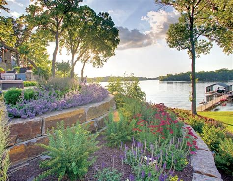 Midwest Landscaping Ideas Bistrodre Porch And Landscape by Lakeside Patio And Pit With Regard To Lakeside