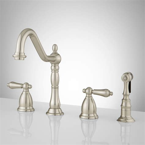 widespread kitchen faucet helena widespread kitchen faucet with side spray kitchen