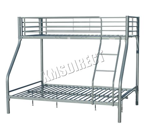 bunk beds metal frame foxhunternew silver metal children sleeper bunk bed