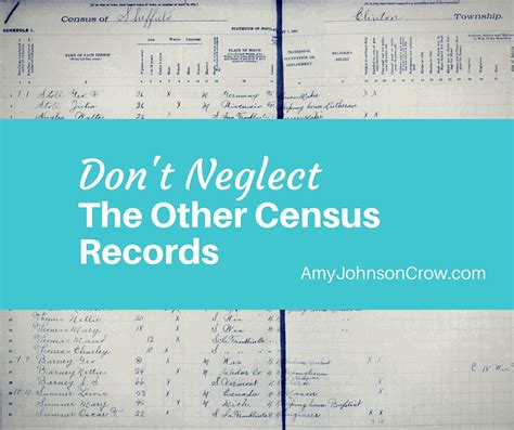 Census Records Don T Neglect The Other Census Records Johnson
