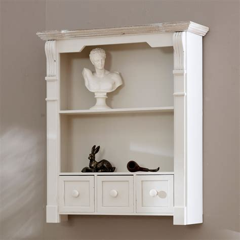 wall drawers unit lyon range antique white shelf unit with drawers