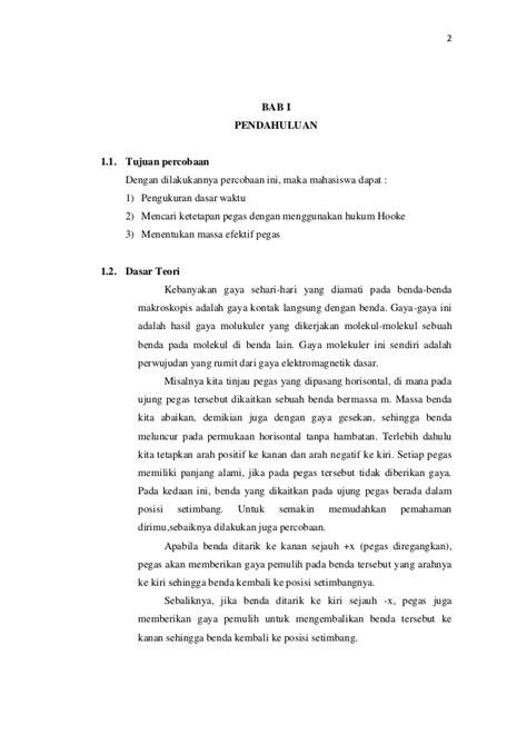 LAPORAN PRAKTIKUM FISIKA : Tetapan Pegas