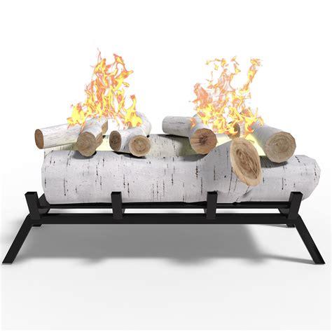 ethanol fireplace insert logs 18 in birch convert gas gel or electric to ethanol