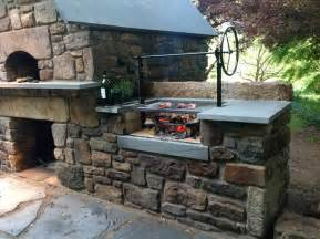 Build A Brick Oven Backyard Solebury Wood Burning Brick Oven And Argentinian Wood Grill
