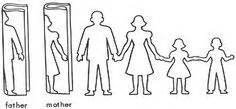 family cut out templates paper doll chains make paper crafts and search