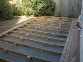 decking concrete patio deck concrete slab for the home the o