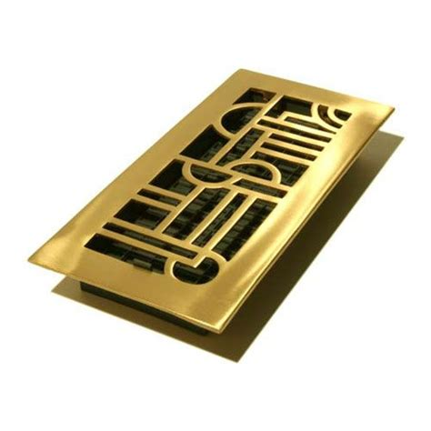 decorative ceiling vents deco satin brass solid brass floor registers floor
