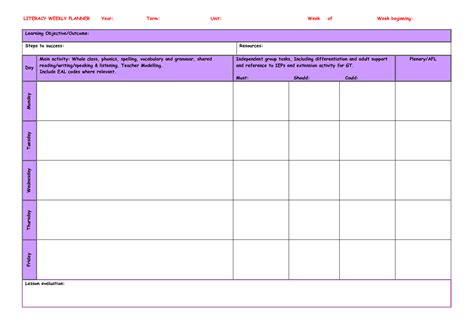 teachers weekly planner template search results for editable weekly planner