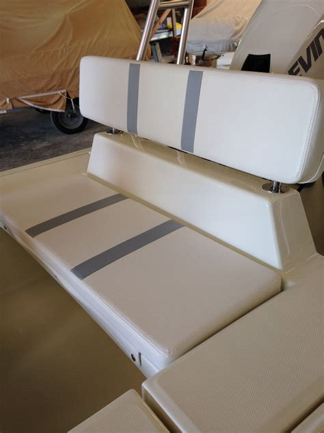bench seat with back bench seat with molded in fixed back rest rigid boats