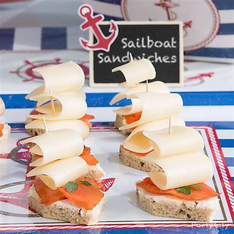 sailboat ideas sailboat salmon sandwich idea party city
