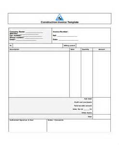 building invoice template 28 images sle contractor
