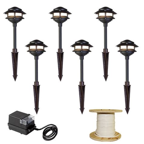 Landscaping Lighting Kits Led Pathway Light 2 Tier Pagoda Kit By Aql