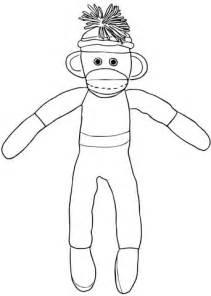 christmas sock monkey coloring page supercoloringcom
