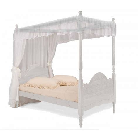 Verona Veneza White Wooden 4 Poster Bed Frame Next Day Four Poster Bed Frame