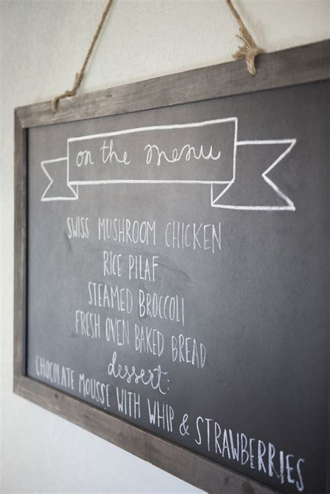 Menu Chalkboard For Kitchen by As Seen On Hgtv S Fixer Hgtv Shows Experts