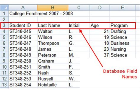 format date field in excel how to create a database in excel
