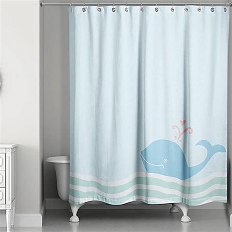 wave shower curtain buy whale wave shower curtain in blue from bed bath beyond