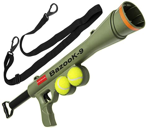 automatic tennis launcher for dogs bazook 9 tennis launcher for pet throw fetch play outdoor ebay