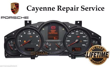 book repair manual 2005 porsche boxster instrument cluster repair service for porsche cayenne v6 instrument speedometer cluster l german audio tech