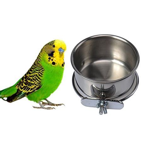 get stainless steel hanging bowl bird food feeding dish