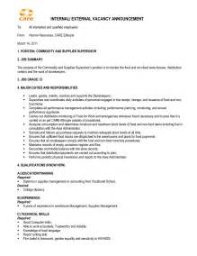 sample cover letter for internal job opening