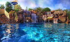 Beautiful Backyards With Pools Backyard Swimming Pool With Beautiful Waterfalls Made By Artificial Http