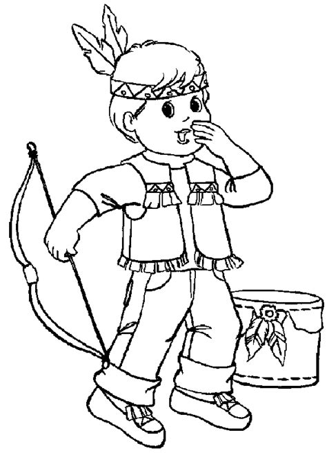 Coloring Pages Of Indians indian coloring pages coloringpages1001