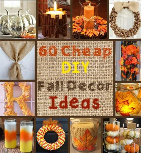 easy to make fall decorations 25 unique cheap fall decorations ideas on pinterest