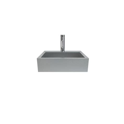 wall hung stainless steel sinks filament design cantrio wall hung bathroom in