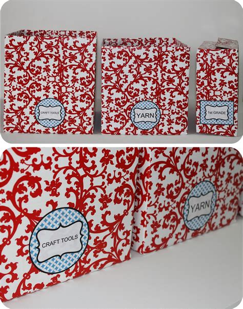 diy storage box diy how to recycle cardboard boxes into pretty storage boxes with editable labels catch my party