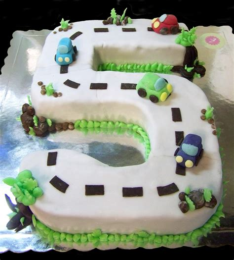number 5 and cars cake nat cake artist