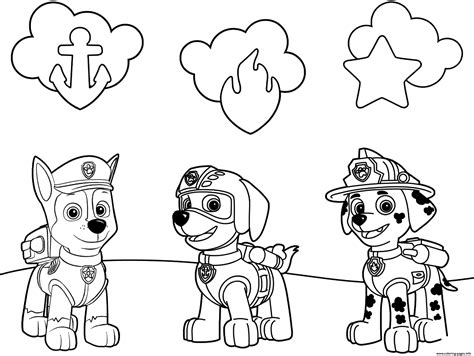 Free Paw Patrol Coloring Pages Happiness Is Homemade Paw Patrol Badge Template Printable