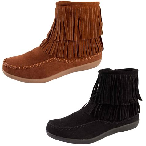 moccasin ankle boots womens tassel ankle boots faux suede flat moccasin