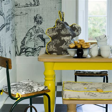 Yellow Dining Room Table grey and yellow colour schemes ideal home