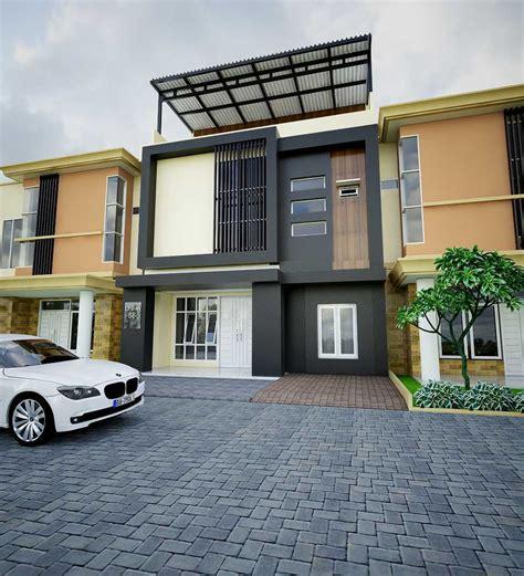 model desain tampak depan rumah minimalis  lantai  mungil  modern arsitag
