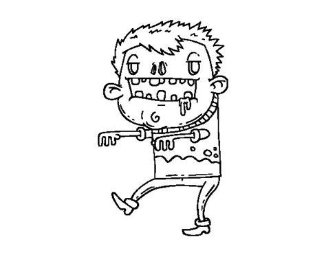 dibujos para colorear zombies dibujo de chico zombie para colorear dibujos net