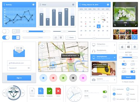 free ui layout tool modern ui kit simple and elegant ui pack for download