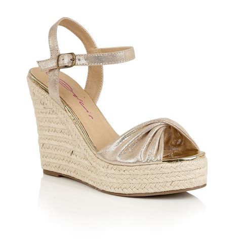 buy dolcis hollie wedge sandals gold