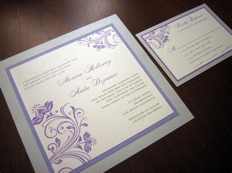 Silver Wedding Invitations by Purple And Silver Wedding Invitation A Vibrant Wedding