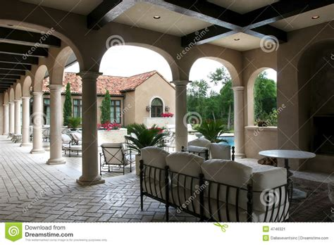 luxury spanish style homes luxury spanish style home and pool stock image image
