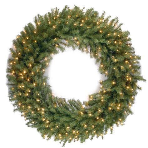the oversized prelit wreath 48 inch hammacher schlemmer