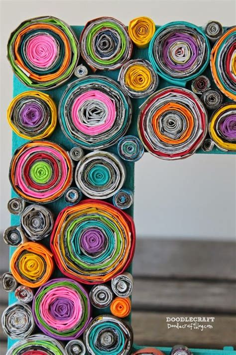 recycled crafts for home decor 25 best ideas about paper frames on pinterest paper